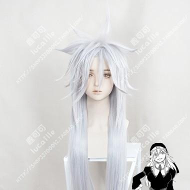 Edens Zero Sister Ivry Silver Grey 100cm Cosplay Party Wig