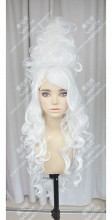 Lady gaga White Bun style Curly Cosplay Party Wig