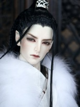 The ancient times Black Hand-make style BJD wig